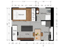 interior studio apartment design floor plan small studio