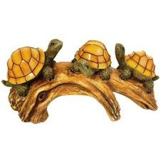 Solar Lights For Ponds by Moonrays 3 Light Outdoor Poly Resin Solar Powered Led Turtles Log