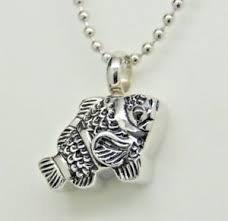 memorial jewelry fish cremation urn necklace fisherman s ashes keepsake
