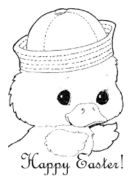 easter colouring cute easter colouring sheet