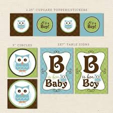 Owl Baby Shower Boy - gender neutral owl printable baby shower decorations u2013 lil u0027 sprout