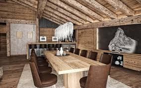 Ski Chalet Interior Luxury Ski Chalet Offering Mesmerizing Views Over The Matterhorn