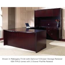 Magellan L Shaped Desk U Shaped Desk With Hutch U Shape Desk Suite W Hutch Mahogany Or