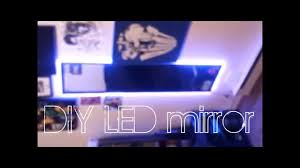 diy led mirror under 16 youtube