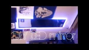 Lighted Vanity Mirror Diy Diy Led Mirror Under 16 Youtube