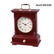 Wood Desk Clock Mahogany Wood Desk Clock Quartz Table Clock With Handle And Drawer