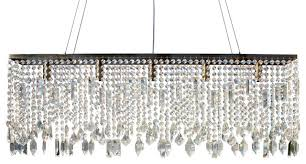 Chandelier Antique Brass Sofia Glass Crystal Rectangular Chandelier Antique Brass