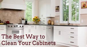 Clean Kitchen Cabinets Wood Best Way To Clean Wood Cabinets In Kitchen Trends Including