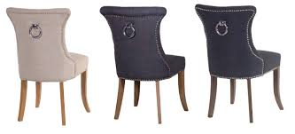 Uk Dining Chairs Ring Back Studded Black Dining Chair