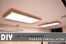 garage fluorescent light fixture installing led fluorescent light in the garage shop youtube