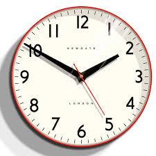 red kitchen clock newgate clocks ice cream factory kitchen wall