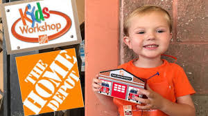 kids workshop at the home depot toddler makes a firehouse bank at