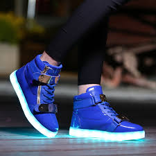 high top light up shoes adults led light up shoes high tops royal blue with gold straps