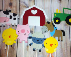 Farm Theme Baby Shower Decorations Set Of 12 Cow Cupcake Toppers Farm Theme Decoration Cows