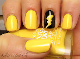 yellow nail polish designs paints paper mache the bolt was