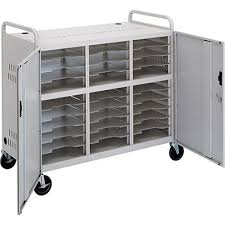 Laptop Storage Cabinet Advance Ct Ls30 Laptop Storage Cart Dove Gray 5100 B U0026h Photo