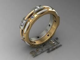 Gold Monogram Ring Wedding Rings Unique Mens Wedding Bands Gold Monogram Rings