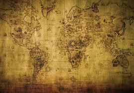 sepia world map vintage wall paper mural buy at europosters