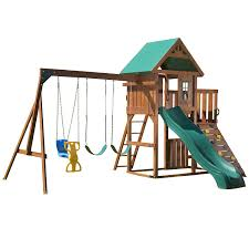 amazon com swing n slide willows peak play set with two swings