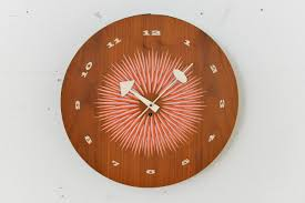 Herman Miller Clock Mid Century Wall Clock By George Nelson For Howard Miller For Sale
