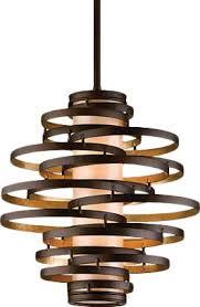 vertigo spiral bronze and gold leaf modern pendant chandelier lighting modern living room corbett lighting vertigo geometric pendant reviews wayfair