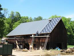 Gambrel Roof Barns Barn Roofs U0026 Barn Just Two Farm Kids Stell Roofing