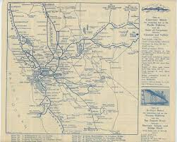 mileage map map and mileage chart showing territory served by the carquinez