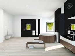 interieur salle de bain moderne intérieur de salle de bains moderne avec un mur noir peinture