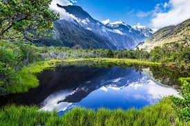 nature lake reflections wallpapers nature landscape summer lake reflection mountain grass