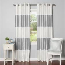 wallace white blackout curtains crate and barrel with gray and