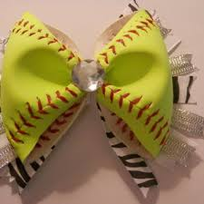 softball hair bows shop softball hair bows on wanelo