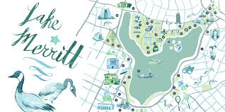 Oakland Map An Illustrated Guide To Lake Merritt U2013 The Bold Italic