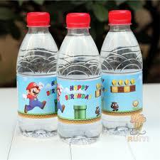Decorate Water Bottle Aliexpress Com Buy 24pcs Anime Super Mario Run Luigi Peach