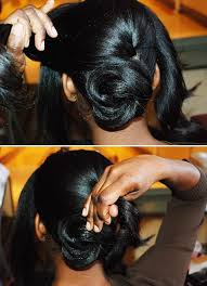twisted bun hairstyle on african american african american low bun hairstyles hair