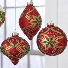jeweled ball christmas ornament set of 3 shelley b home and holiday