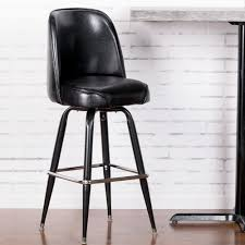 Leather Bucket Chair Lancaster Table U0026 Seating Deluxe Black Barstool With 19