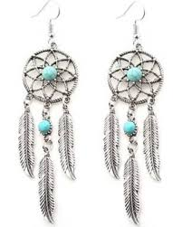 feather earrings deals on artificial turquoise catcher feather earrings