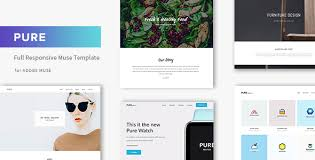 pure responsive creative portfolio muse template by museframe