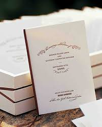 programs for a wedding ceremony classic wedding ceremony programs martha stewart weddings