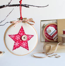 embroidery hoop christmas bauble sewing kit christmas baubles