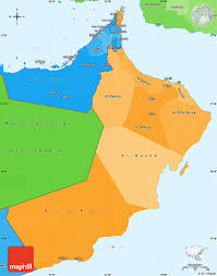 map of oman political shades simple map of oman