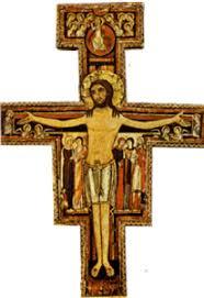 au contraire, il se dépouilla lui-même en prenant la condition de serviteur. Devenu semblable aux hommes et reconnu comme un homme à son comportement, il s'est abaissé lui-même en devenant obéissant jusqu'à mourir, et à mourir sur une croix. (Croix de San Damiano St François d'Assise)