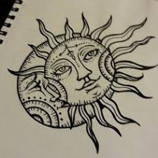 awesome sun and moon design photos pictures and sketches