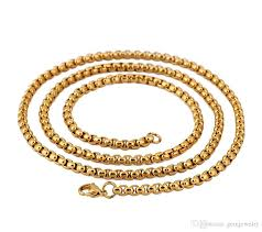 round chain necklace images 2018 70cm men 39 s stainless steel necklace 3 8mm round box link jpg