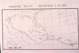 Hurricane Tracking Map 50 Years Ago Hurricane Beulah Was Near The Dominican Republic