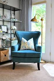 peacock blue chair marvelous home living room vintage style ideas blue accent reading