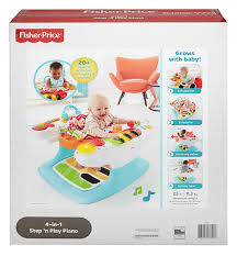 amazon com fisher price 4 in 1 step u0027n play piano baby