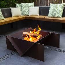 wood burning fire table competitive rectangular wood burning fire pit fresh bond