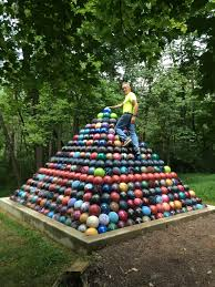 over the past 15 years my dad collected 1785 bowling balls and
