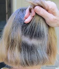 images of grey hair in transisition the story of how one woman is making the transition to gray hair